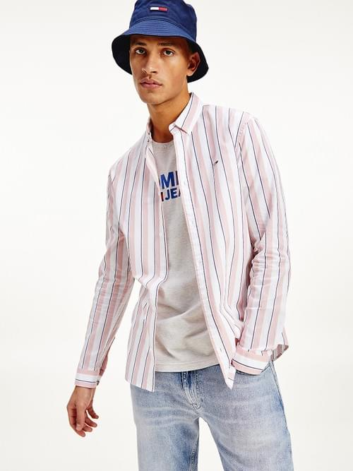 Camisa Tommy Jeans Essential Rayas