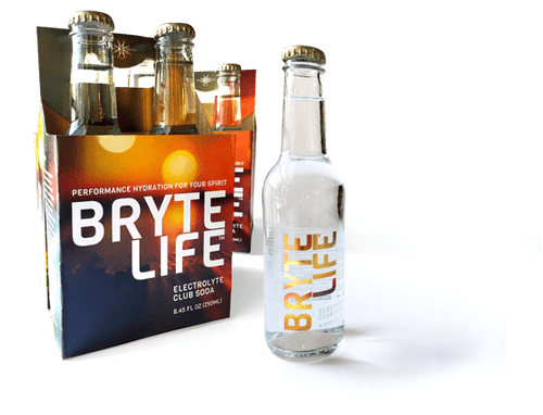 BryteLife Hydration Club Soda w/ Electrolytes (4-Pack / 250ml glass bottles)