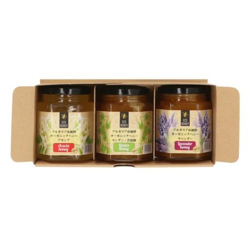期間限定 EUオーガニック規定認定ブルガリア産蜂蜜3種セット