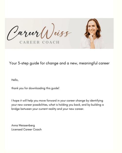 FREE: 3-step Career Change Guide