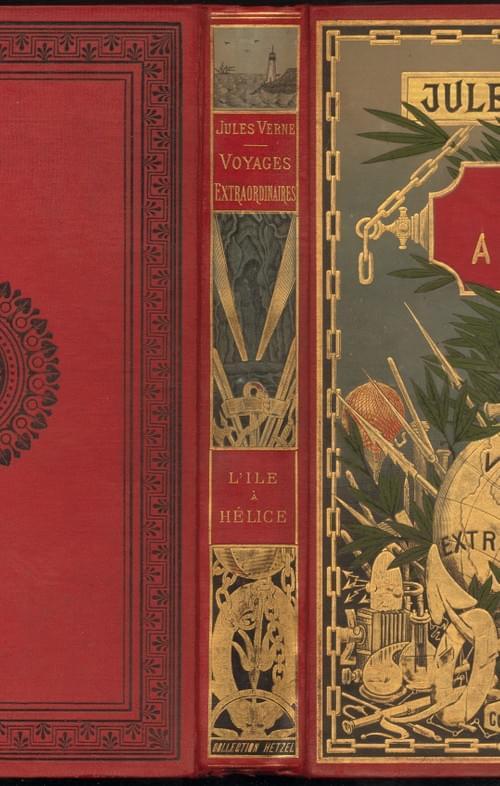 "L'ILE A HELICE. Cart. ""au globe doré"", dos au phare , ""au bandeau noir"""