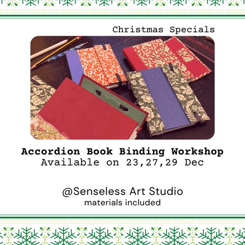 Christmas Accordion Book Binding Workshop