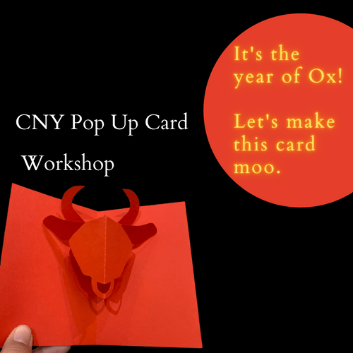 CNY Pop Up Cards - Year of the Ox (or Cow)