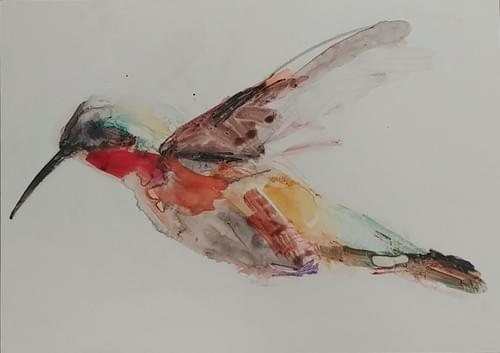 Ruby Throated- Horizontal