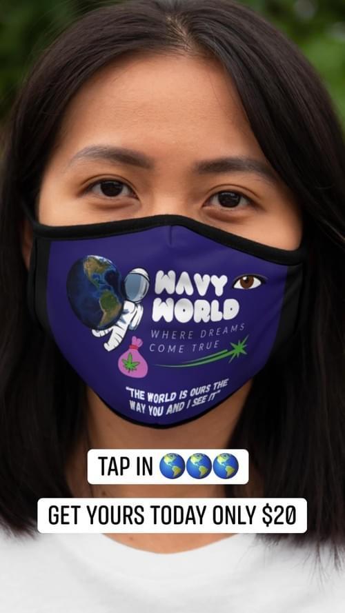 WavyWorld Face Mask