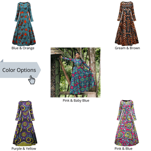 African Maxi Dresses Collection 4 - 5 Color Options