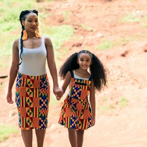 African Kids Dresses - Dungarees