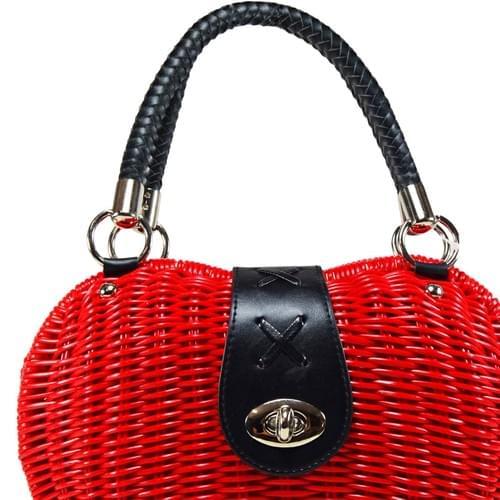 Red Straw Bag
