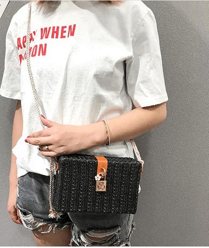 Rattan Style Bag - 3 Colors Options