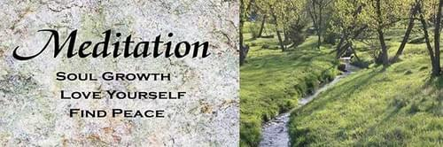 Meditation/solve problems, love yourself, find peace