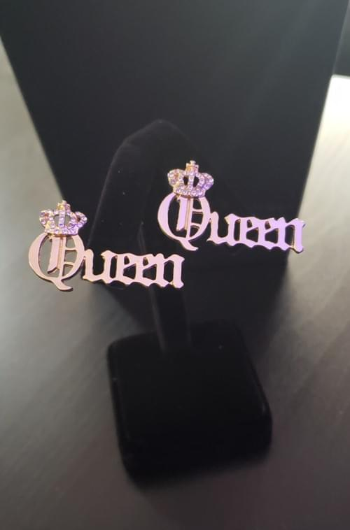 Queen Earrings (Gold)