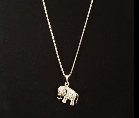 Elephant Necklace (Silver)
