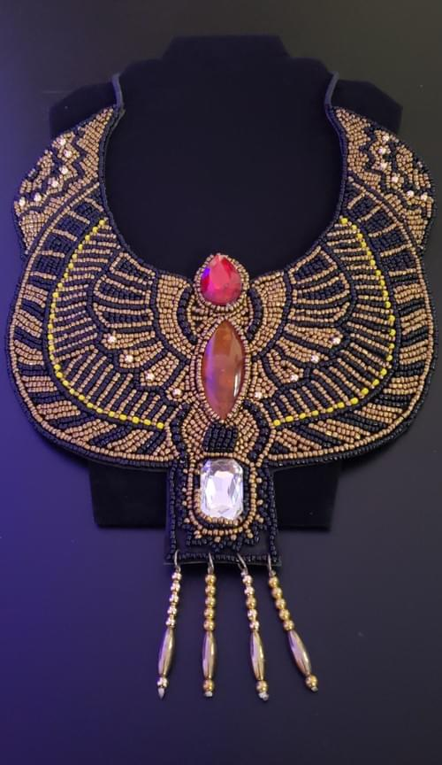Scarab Collar Adornment