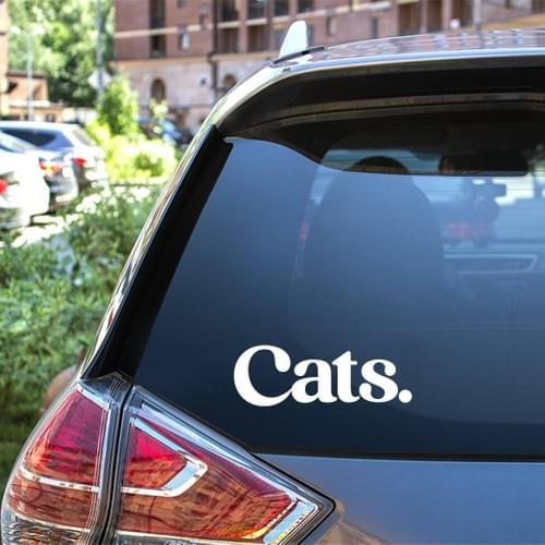 Dogs! decal, Cats. sticker, Dogs! & Cats. for your car