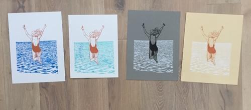 Jump silkscreen print