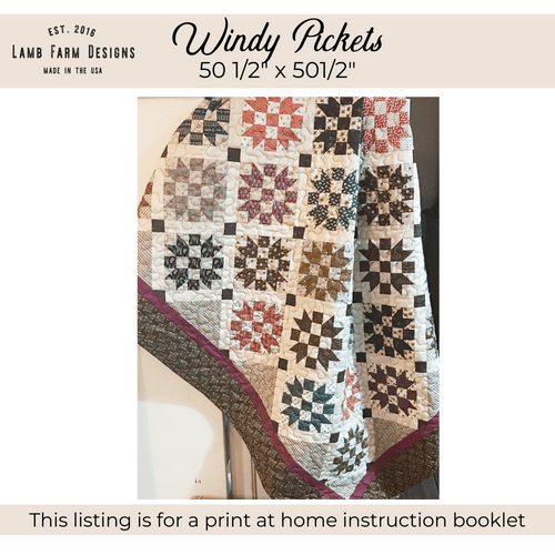 """""""Windy Pickets"""" Pattern - Instant Download"""