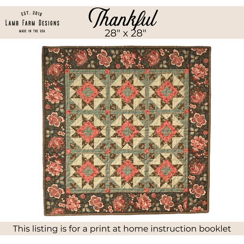 """""""Thankful"""" Pattern - Instant Download"""