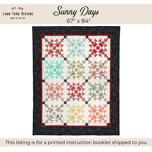 """""""Sunny Days"""" Pattern - Instructions Booklet"""