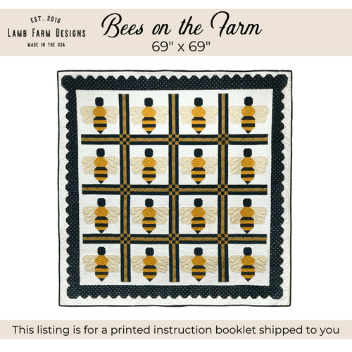 """""""Bees on the Farm"""" Pattern Instructions Booklet"""