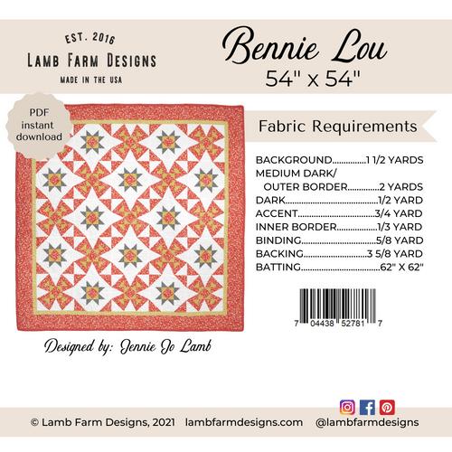 """""""Bennie Lou"""" Pattern - Instant Download"""