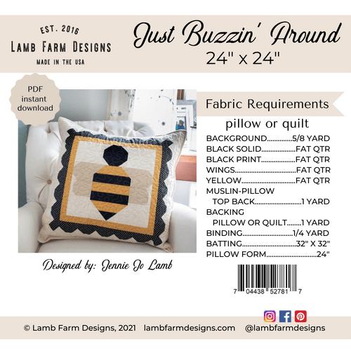 """""""Just Buzzin' Around"""" Pattern - Instant Download"""