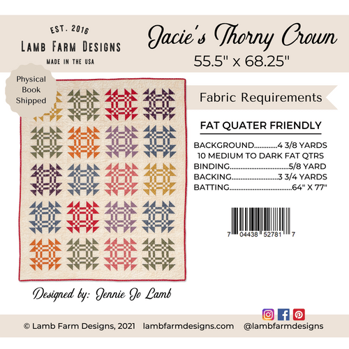 """""""Jacie's Thorny Crown"""" Pattern Instructions Booklet"""