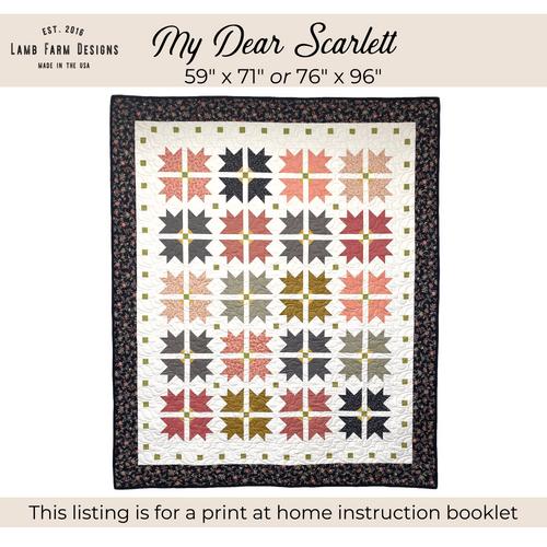 """""""My Dear Scarlett"""" Pattern - Instant Download"""