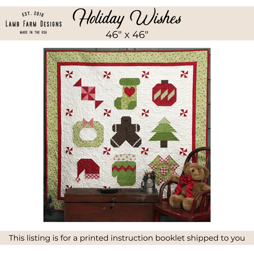 """""""Holiday Wishes"""" Pattern Instructions Booklet"""