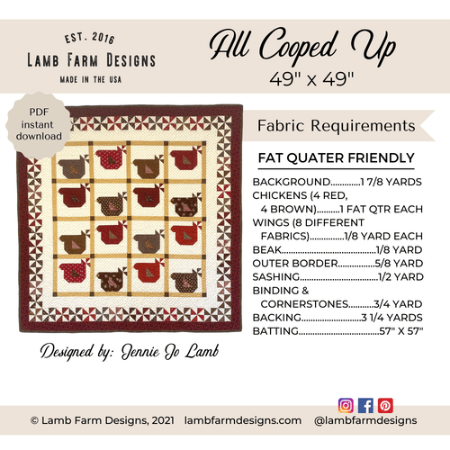 """""""All Cooped Up"""" Pattern - Instant Download"""