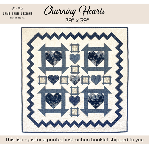 """""""Churning Hearts"""" Pattern - Instructions Booklet"""
