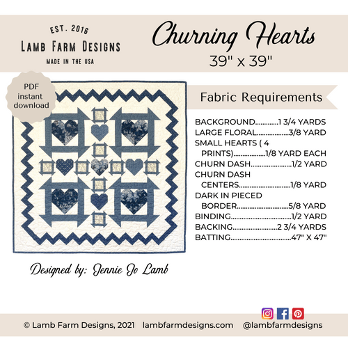 """""""Churning Hearts"""" Pattern - Instant Download"""