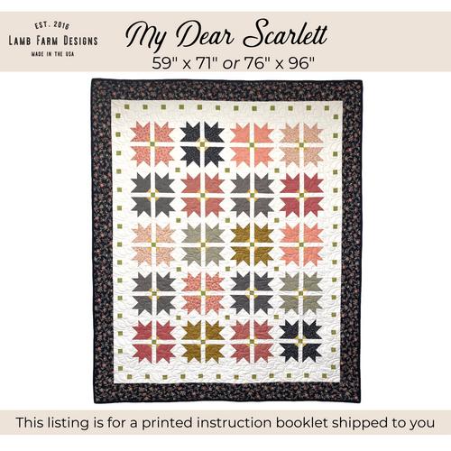 """""""My Dear Scarlett"""" Pattern - Instructions Booklet"""
