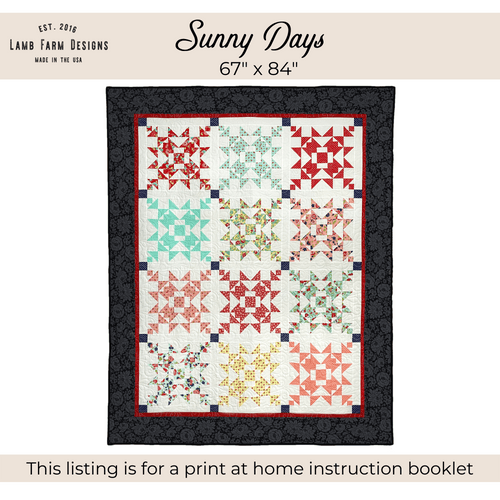 """""""Sunny Days"""" Pattern - Instant Download"""