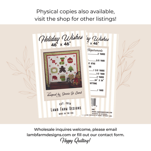 """""""Holiday Wishes"""" Pattern - Instant Download"""
