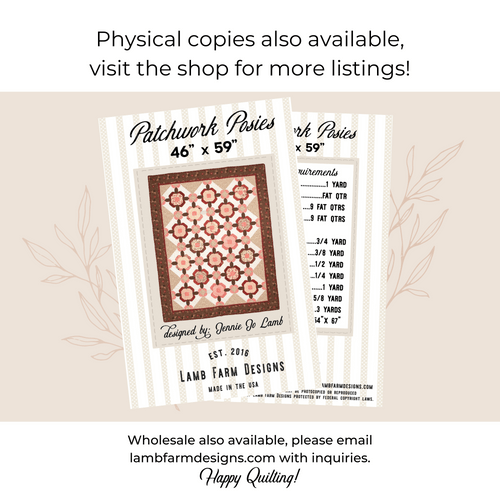 """""""Patchwork Posies"""" Pattern - Instant Download"""