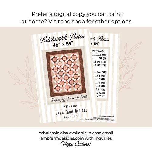 """""""Patchwork Posies"""" Pattern Instructions Booklet"""