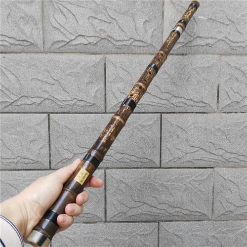 DXH8883 Purple Bamboo Concert Grade Xiao 8 Finger Holes Entire Appearance Design 1