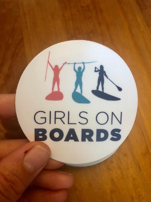 Girls on Boards - Circle Stickers