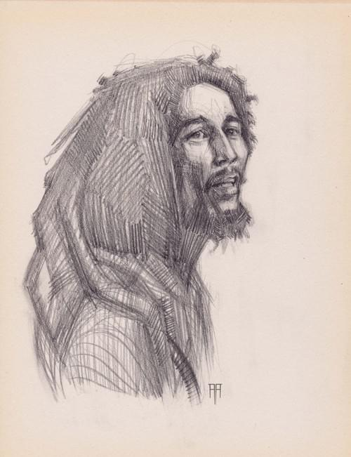 Bob Marley Original Drawing