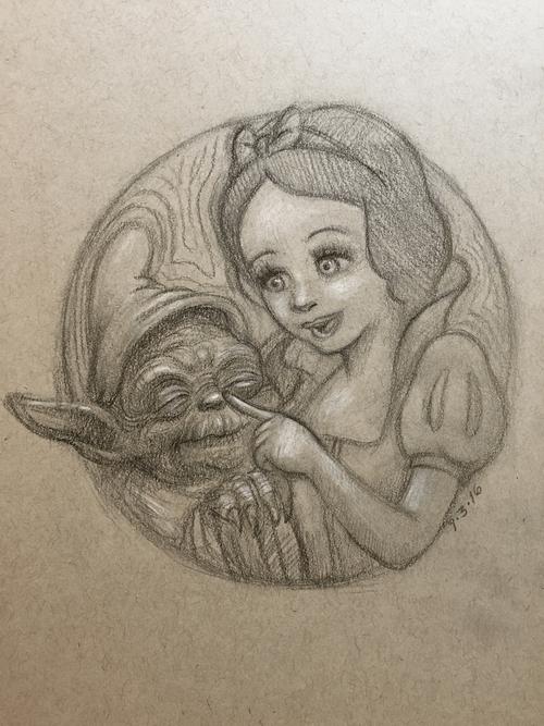 Snow White & Yoda