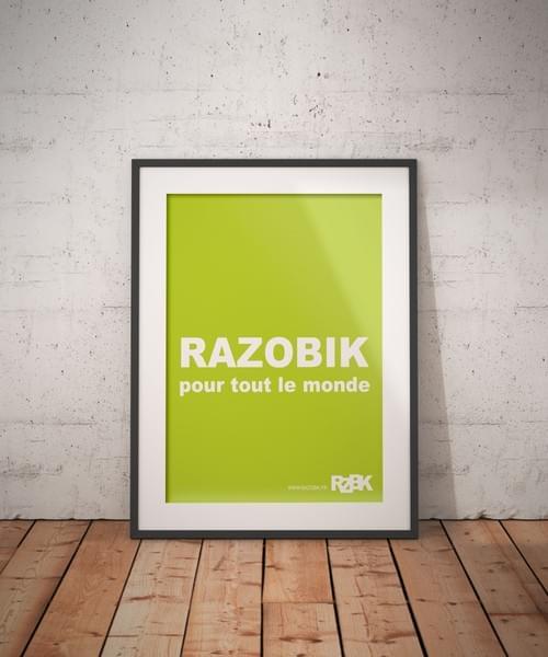 """Poster A2 """"RAZOBIK POUR TOUT LE MONDE"""""""