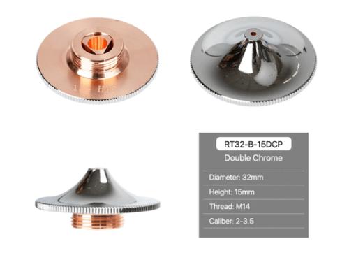 Raytools Cutting Nozzles B Type Double Layer Chrome