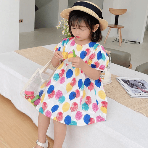 【小糖果屋】童話風森林彩色糖果屋澎澎裙柔軟好穿童裝/女童/連衣裙