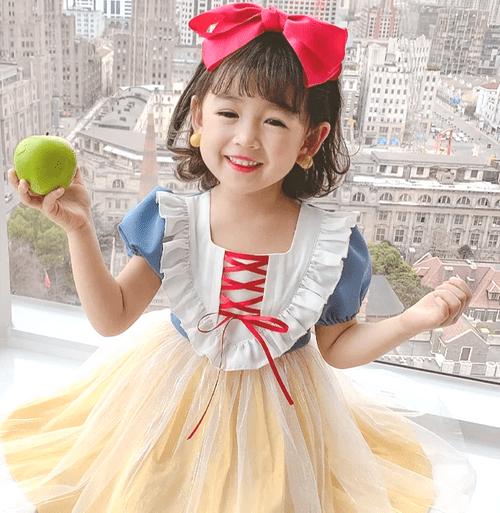 【白雪公主】童話風超可愛白雪公主澎澎裙柔軟好穿童裝/女童/連衣裙