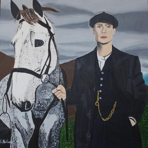 Thomas Shelby with horse in Peaky Blinder