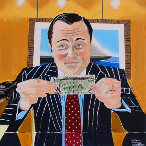 Wolf of Wall Street with 100 AED note