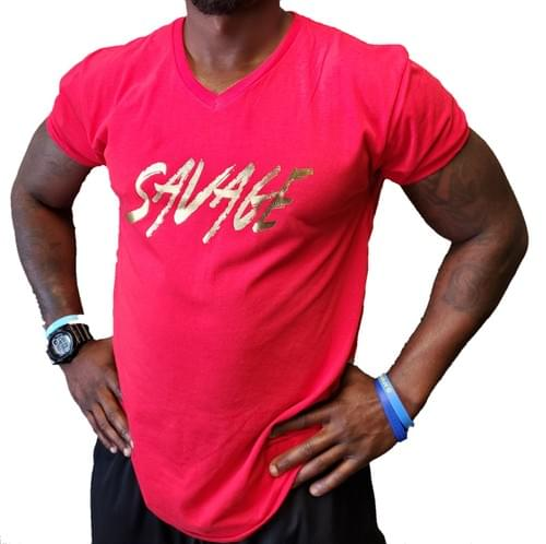 EP1 Red Savage V-Neck Shirt