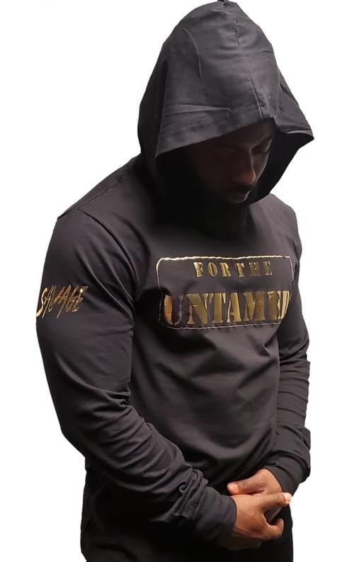 Black For The Untamed Hoodie T Shirt (Unisex)