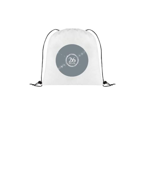 "Non-woven drawstring cinch backpack - 14.5"" x 14.5"" white"