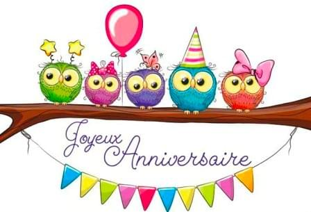 Hibou Anniversaire / French Owls Birthday